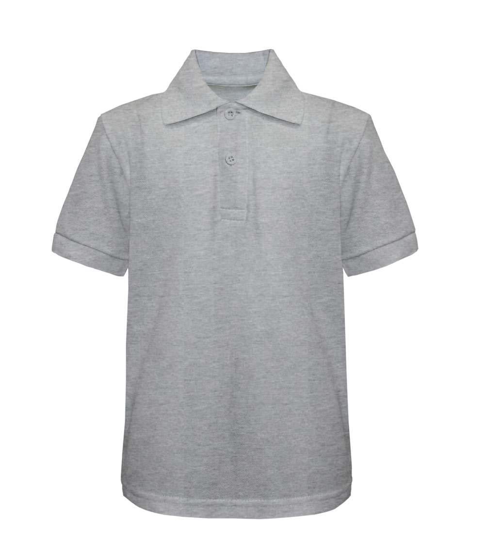 Pique Polo Heather Grey Tanvir 8-18
