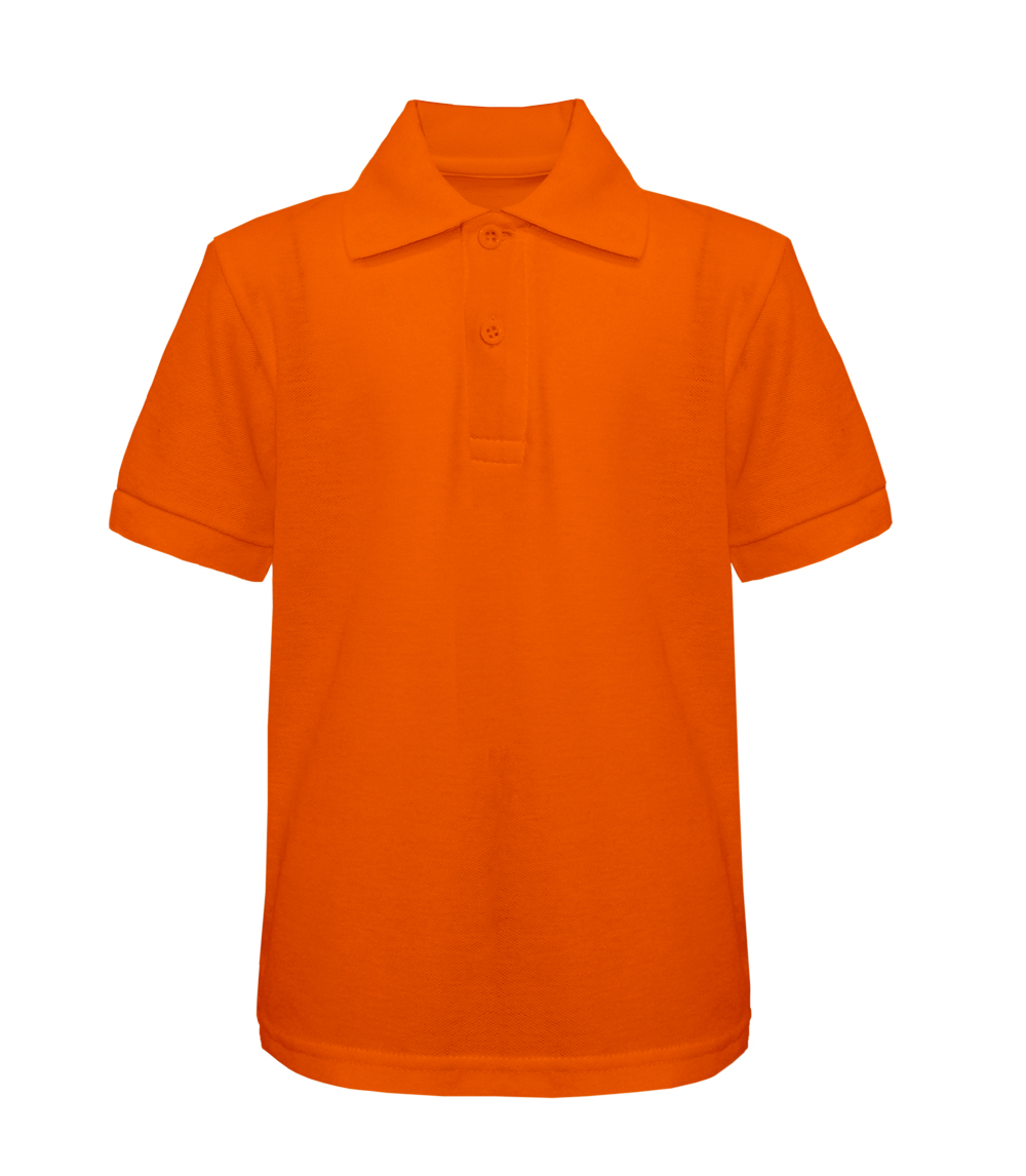Pique Polo Orange S-XL