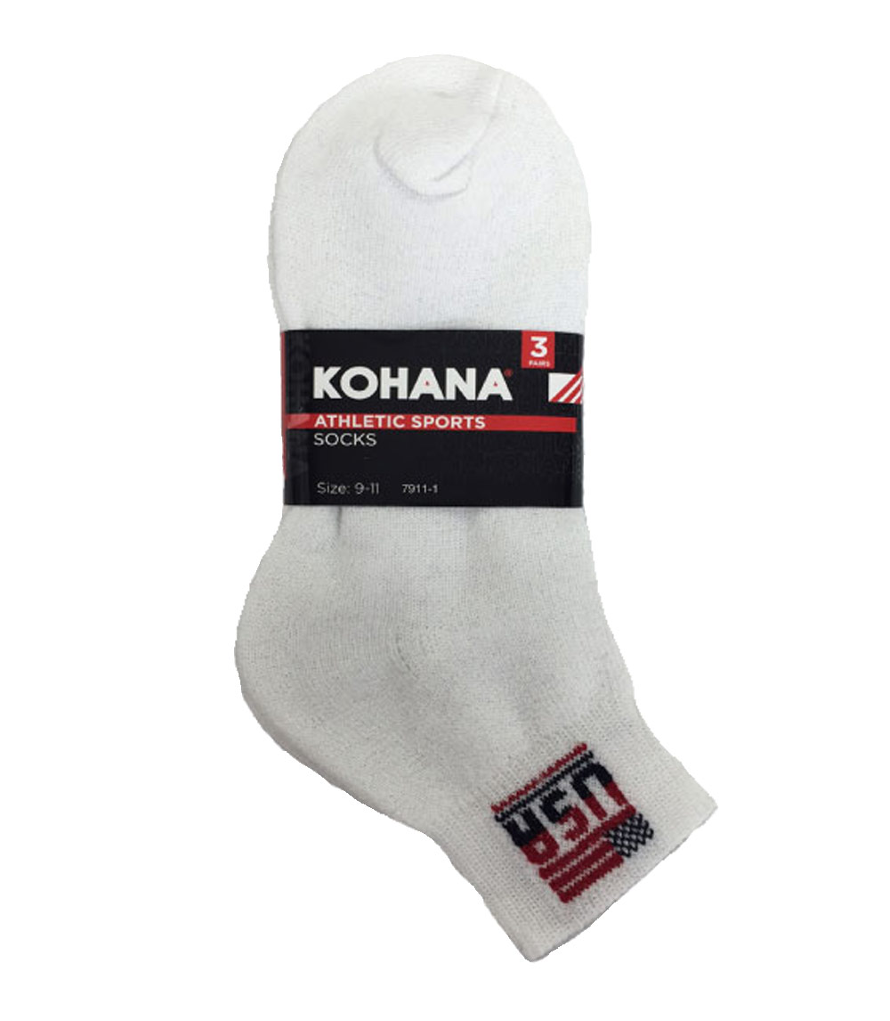 Socks - 10-13 White Ankle Sport Socks