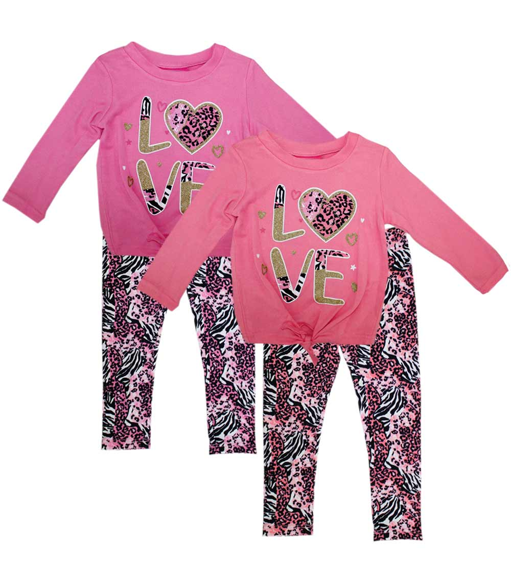 GIRLS PINK Infant Girls Love Print Haci Legging Set