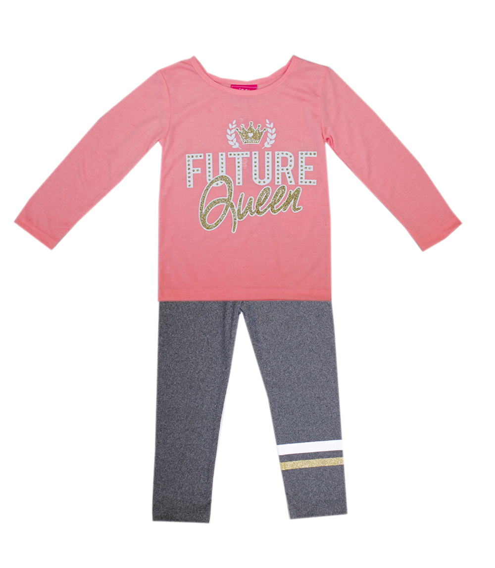 GIRLS PINK Infant Future Queen 2 Pc Set