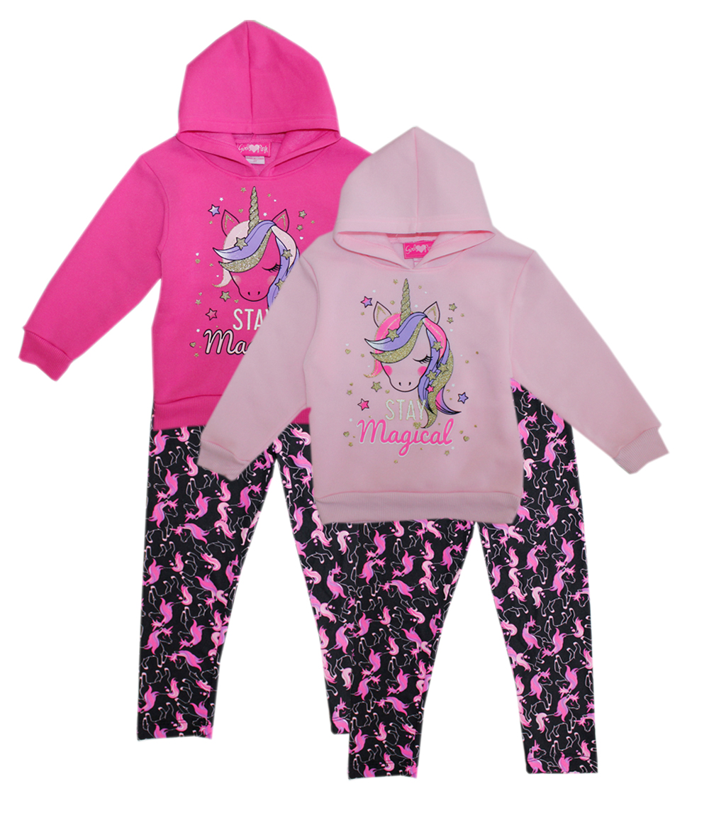 GIRLS PINK Infant Girls Unicorn Print Fleece Set