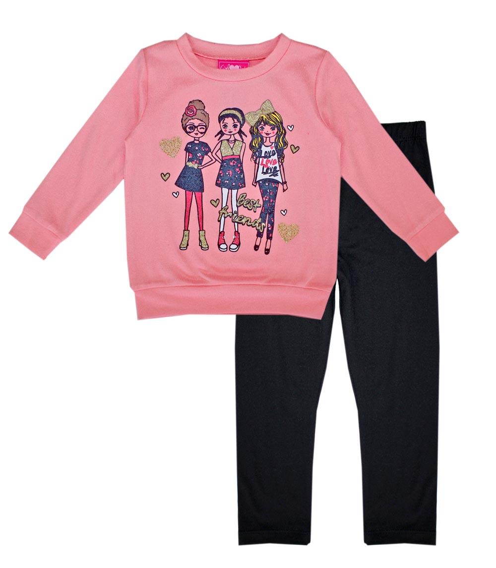 GIRLS PINK Toddler Hatchi Top with Yummy Legging