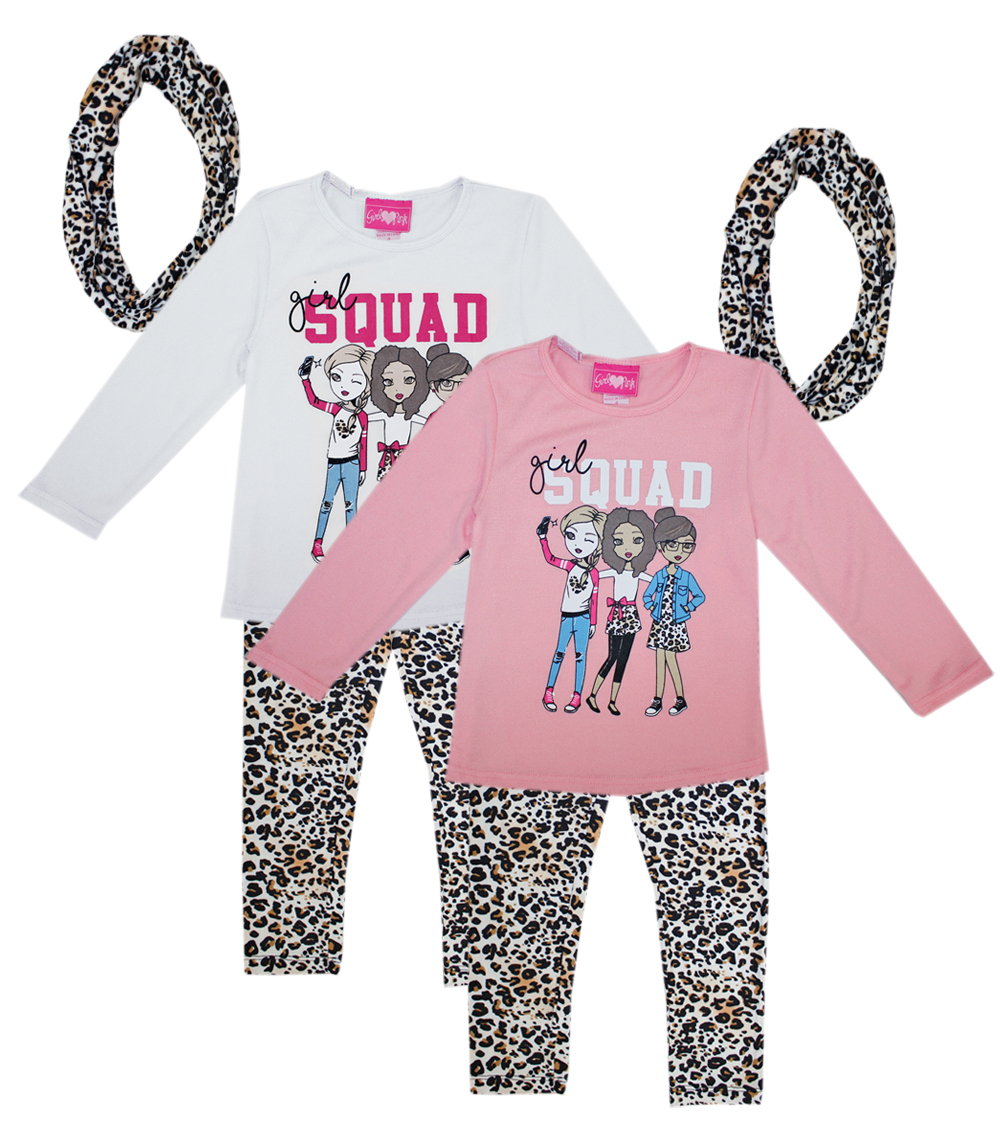 GIRLS PINK 4-6X Girls Haci Scarf Set