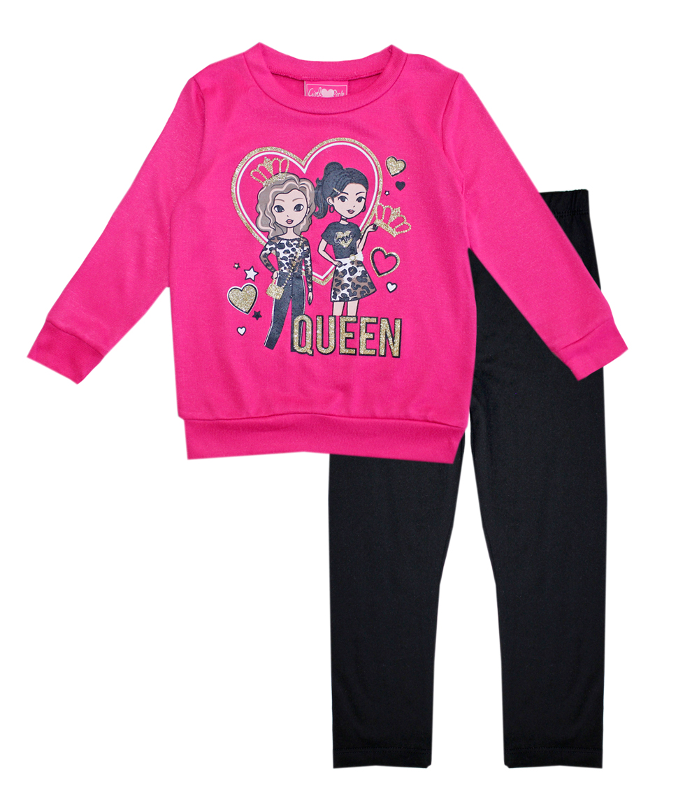 GIRLS PINK Toddler Queen Screen Hatchi Top and Legging