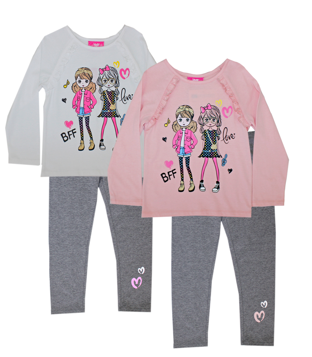 GIRLS PINK Toddler BFF Screen Top and Legging