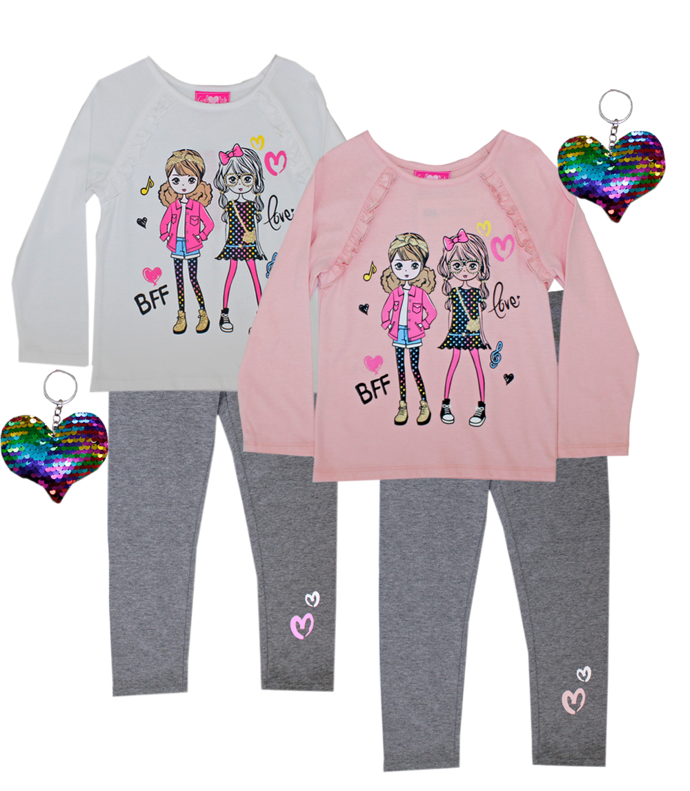 GIRLS PINK 4-6X BFF Screen Top and Legging