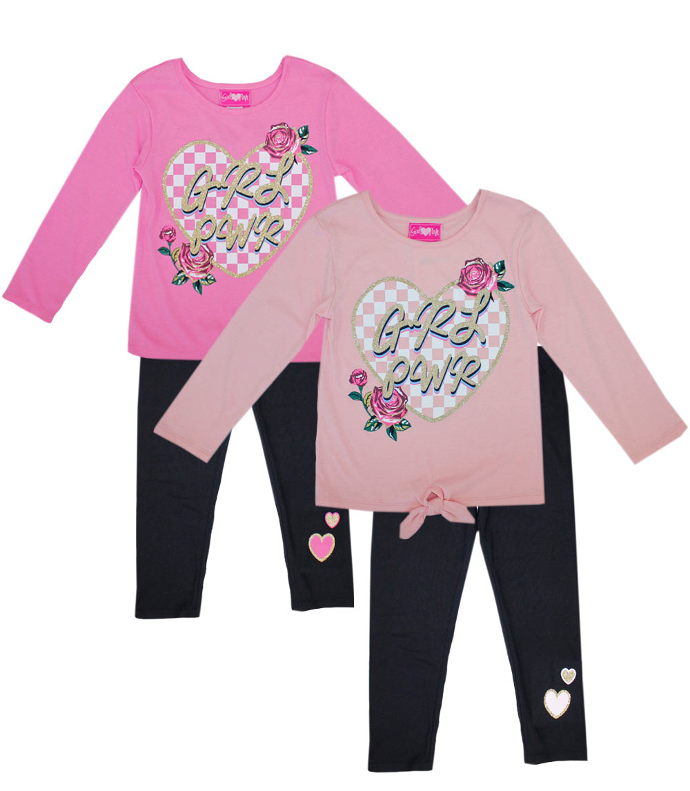 GIRLS PINK Toddler Heart Screen Top and Legging
