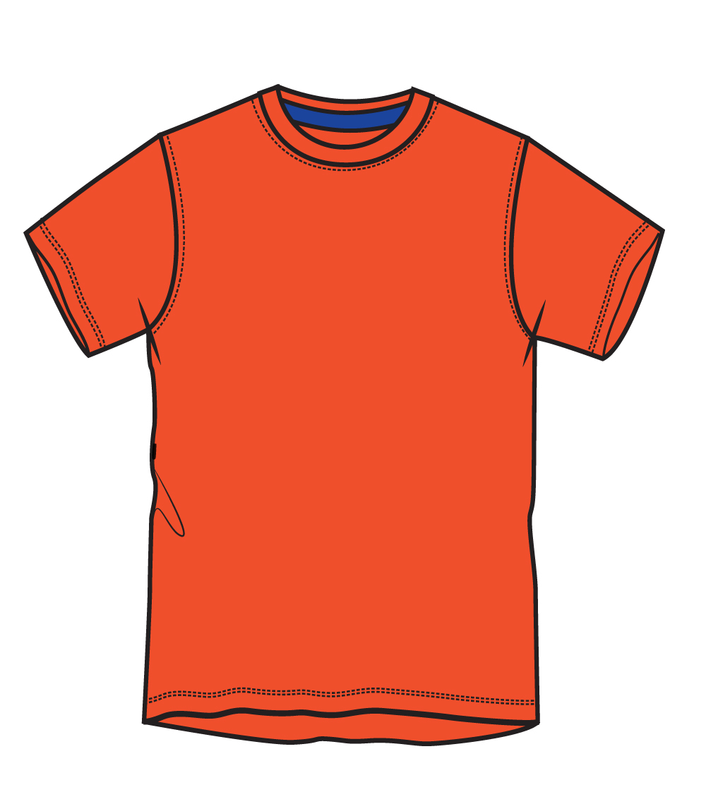 Performance Crew Neck Neon Orange