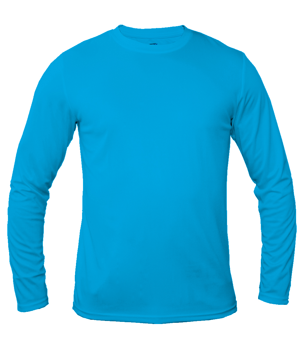 Performance L/S Crew Neck Caroline Blue