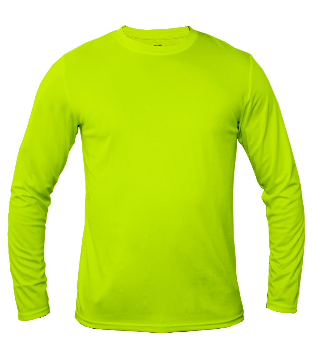 Performance L/S Crew Neck Neon Green