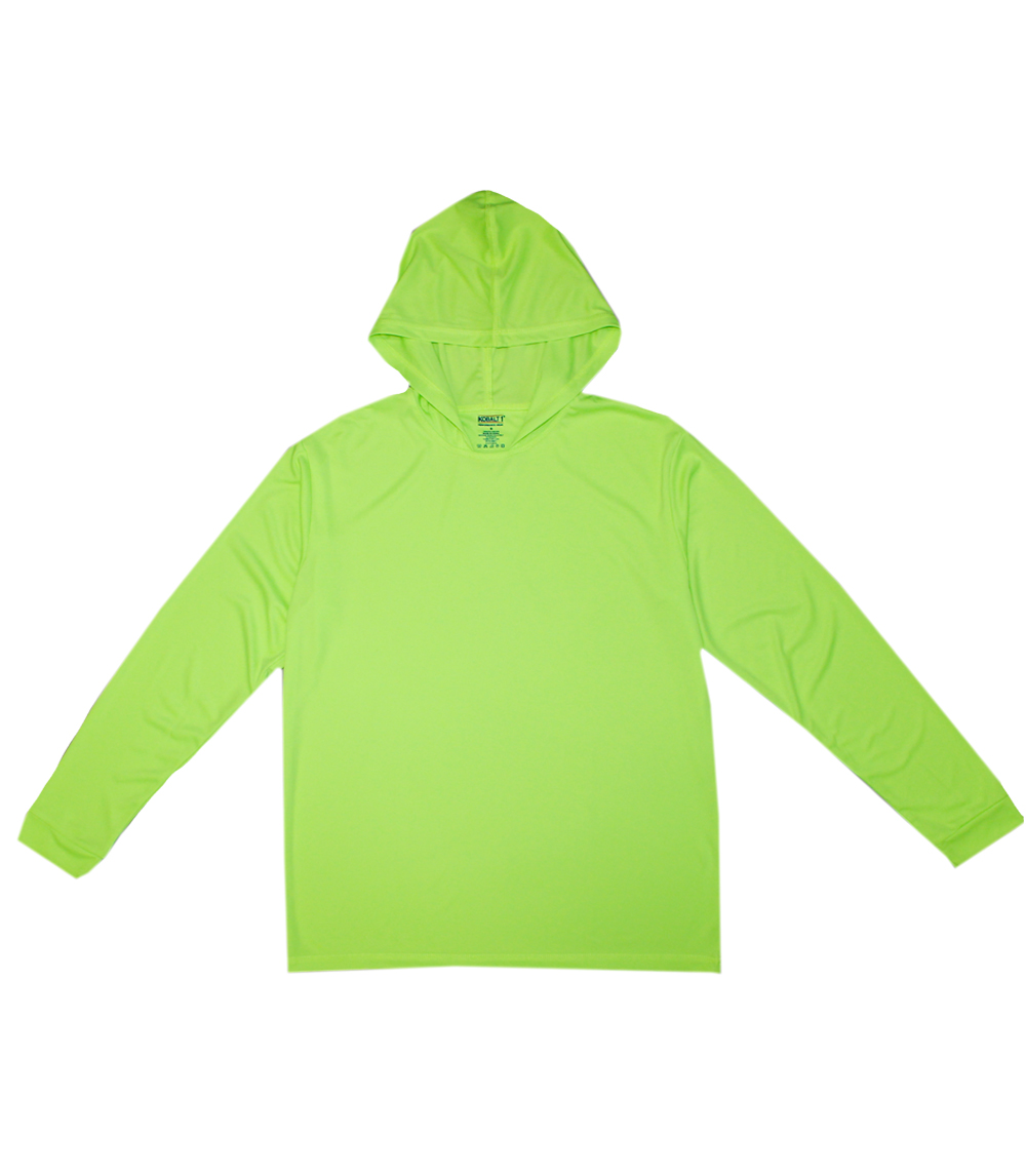 Performance L/S W Hood Neon Green