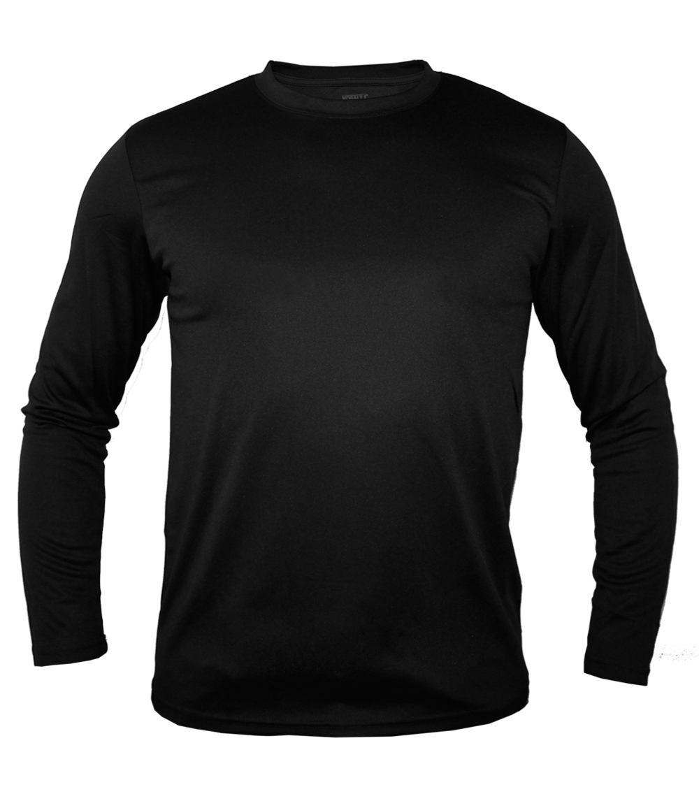 Performance L/S Crew Neck Black