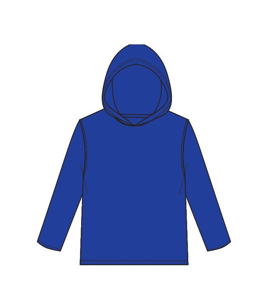 Performance L/S W Hood Royal