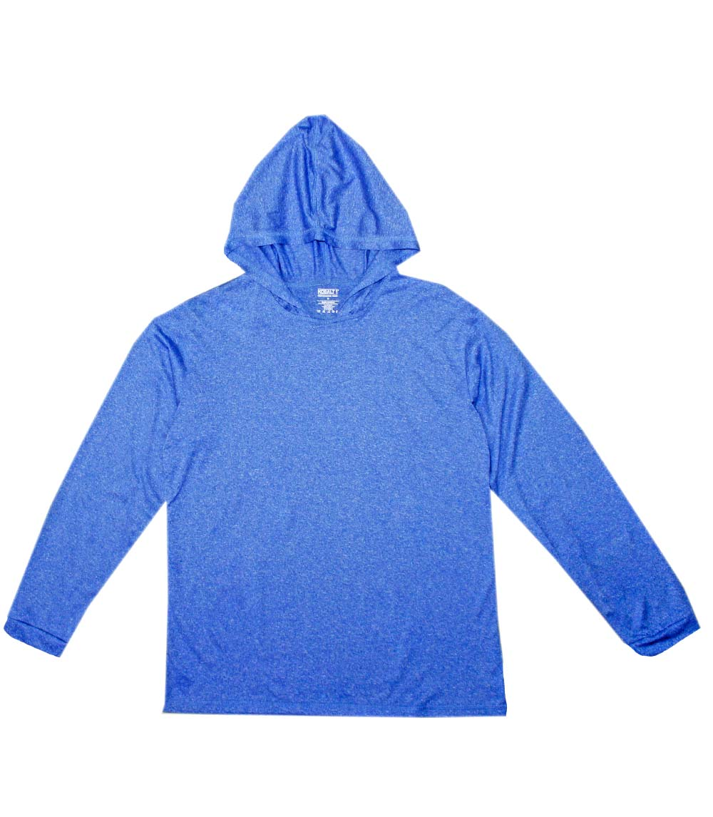 Performance L/S W Hood Heather Royal