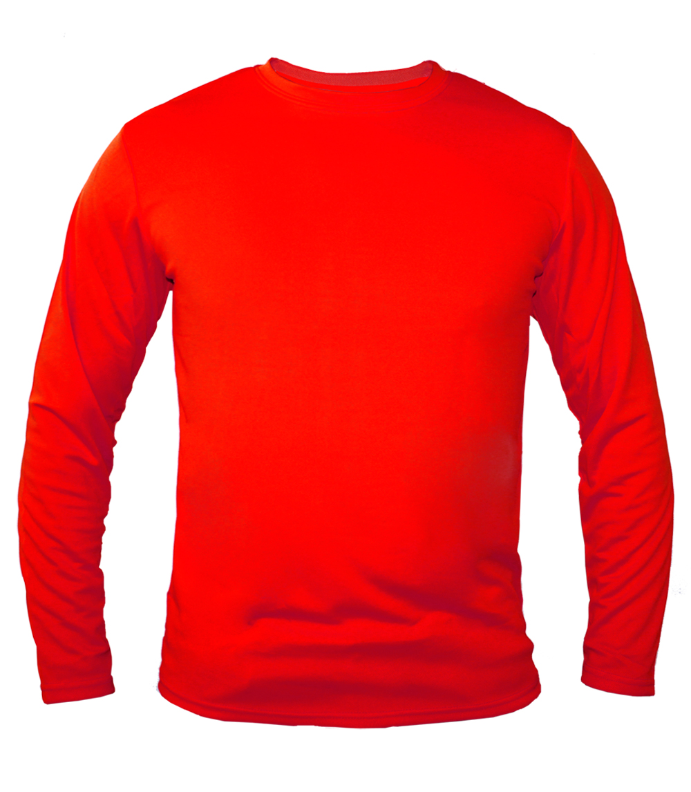 Performance L/S Crew Neck Red
