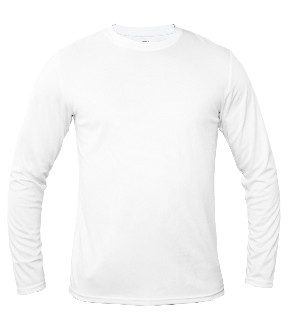 Performance L/S Crew Neck White
