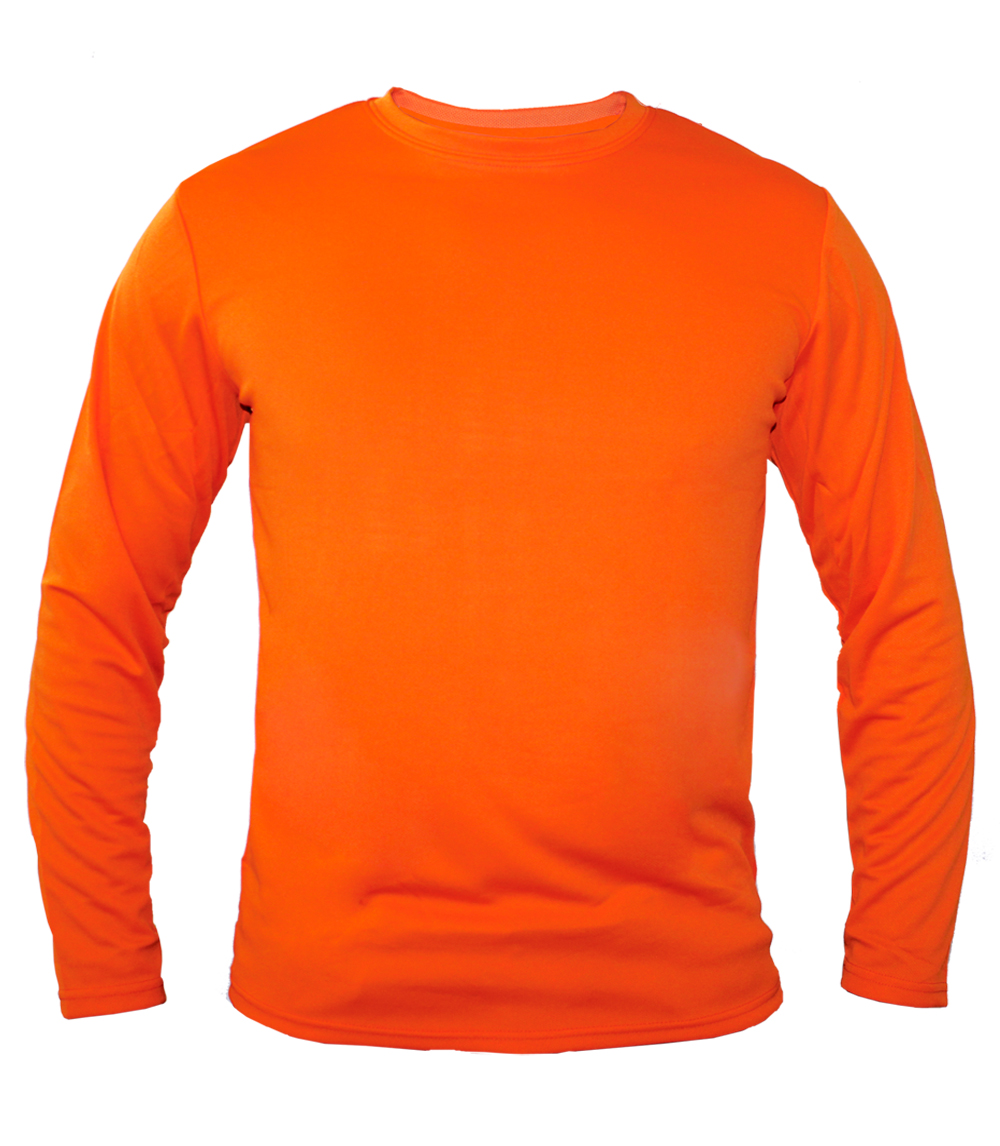 Performance L/S Crew Neck Orange