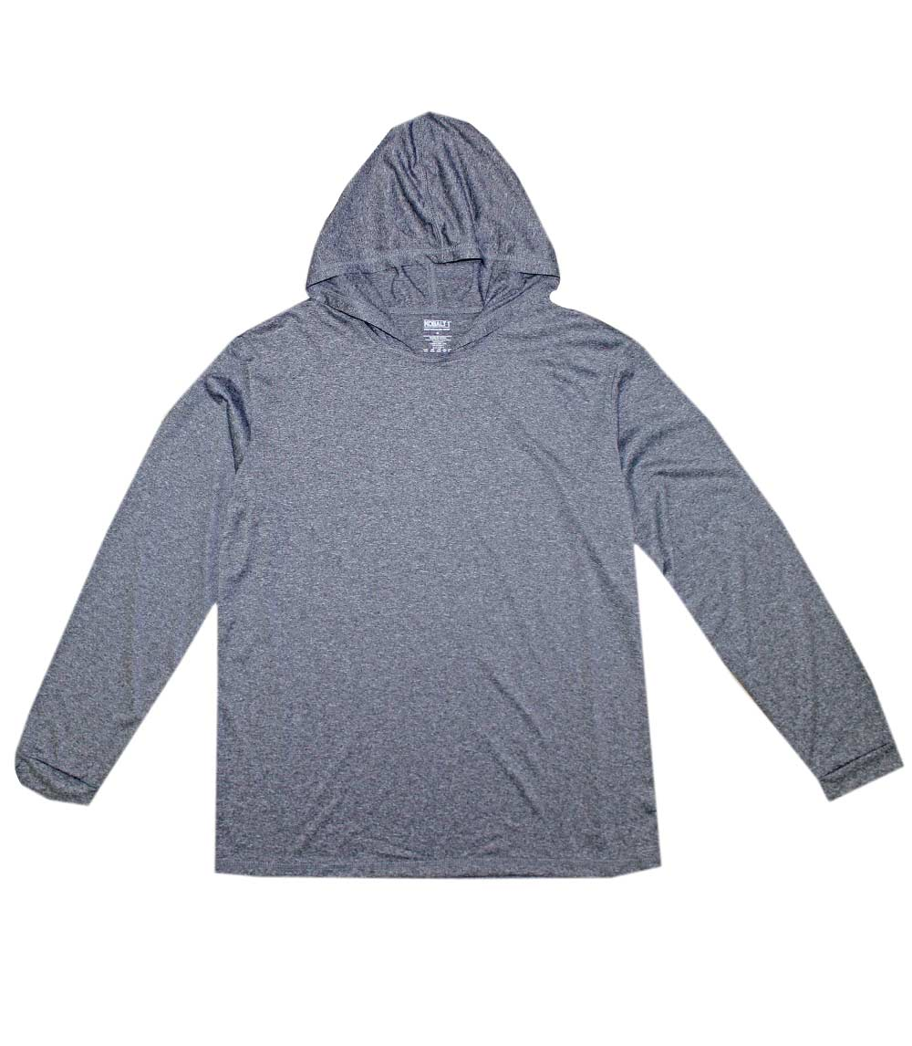Performance L/S W Hood Heather Charcoal