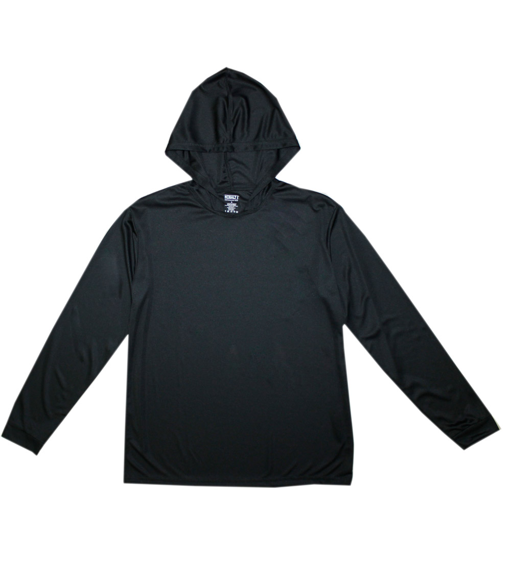 Performance L/S W Hood Black