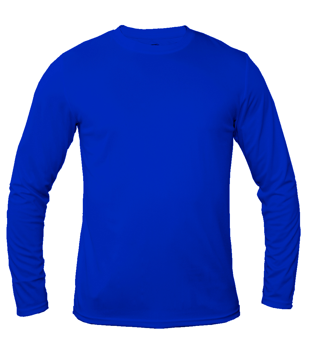 Performance L/S Crew Neck Royal
