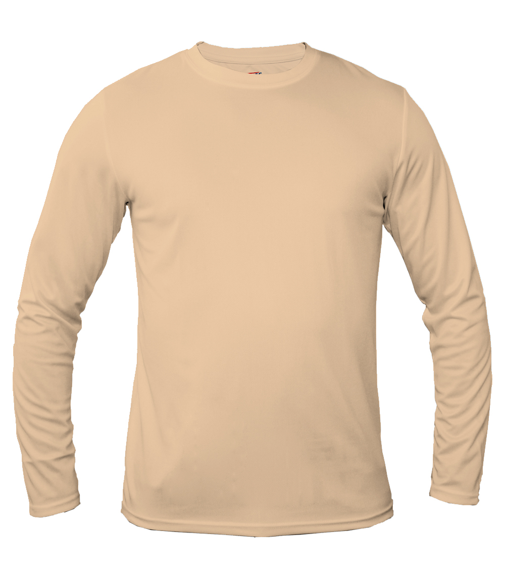 Performance L/S Crew Neck Khaki
