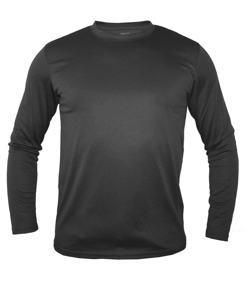 Performance L/S Crew Neck Charcoal