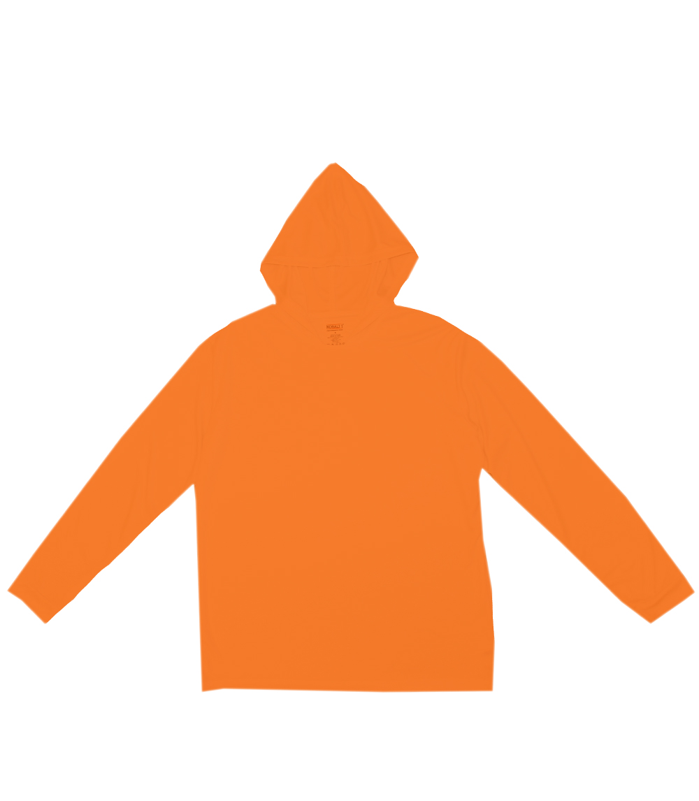Performance L/S W Hood Neon Orange