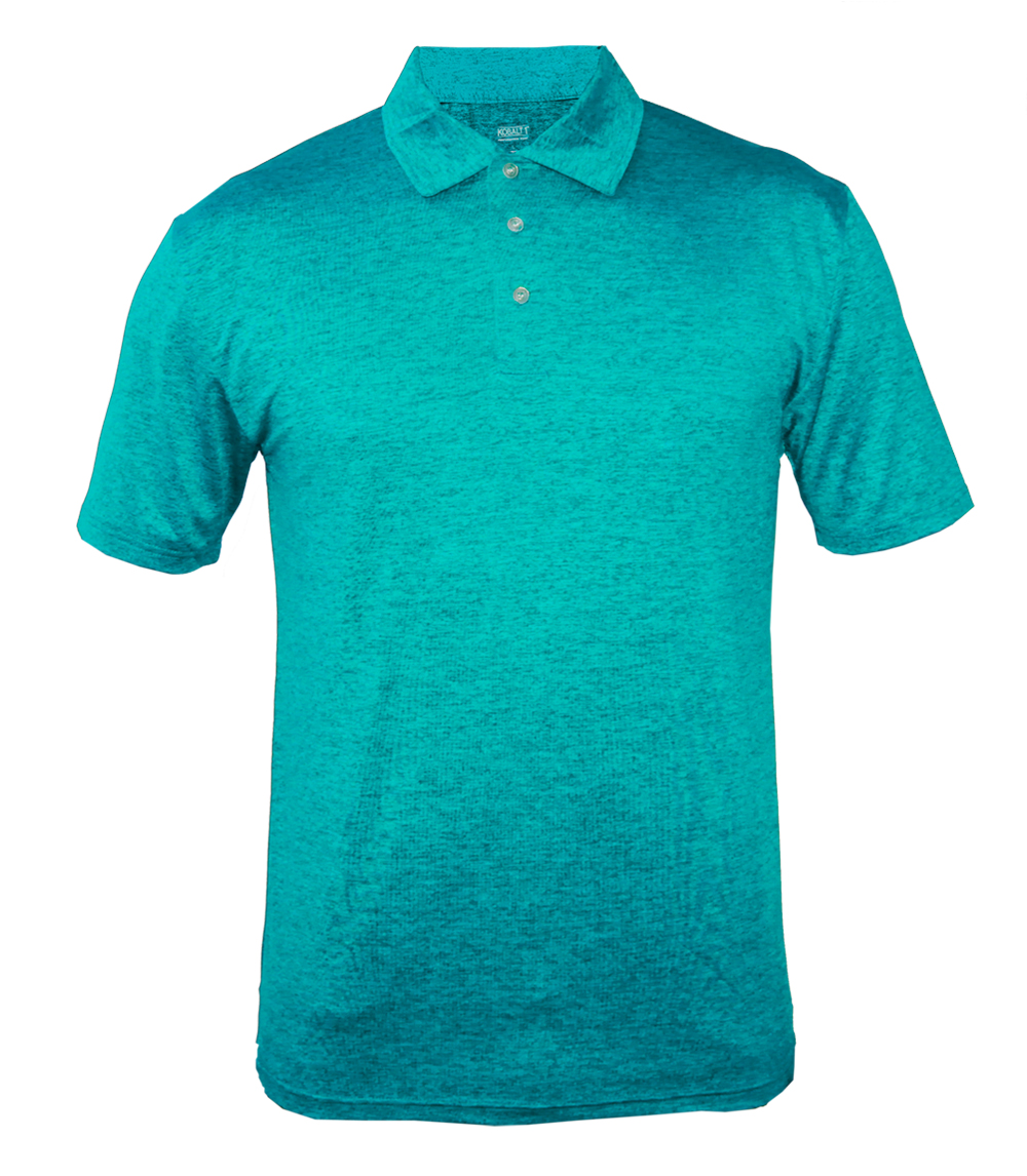 Performance Polo Heather Teal
