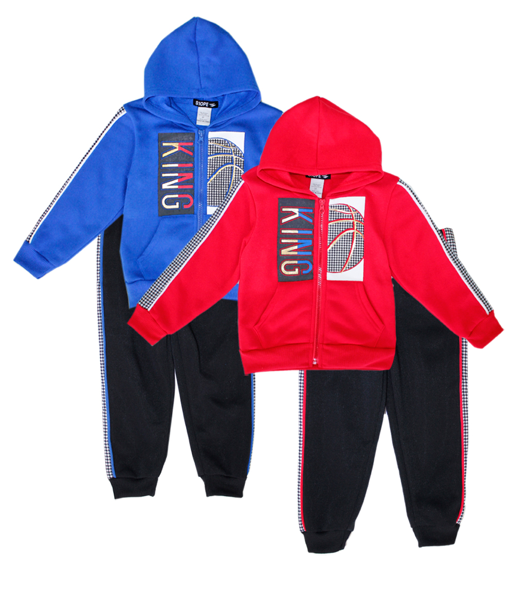 S1OPE Toddler Zip Up King Fleece Set w Strapping