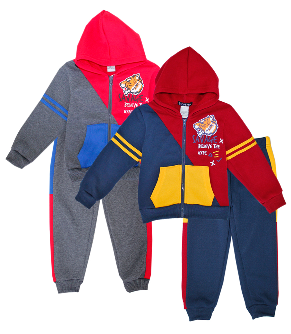 S1OPE Toddler Zip Up Savage Fleece Set w Strapping