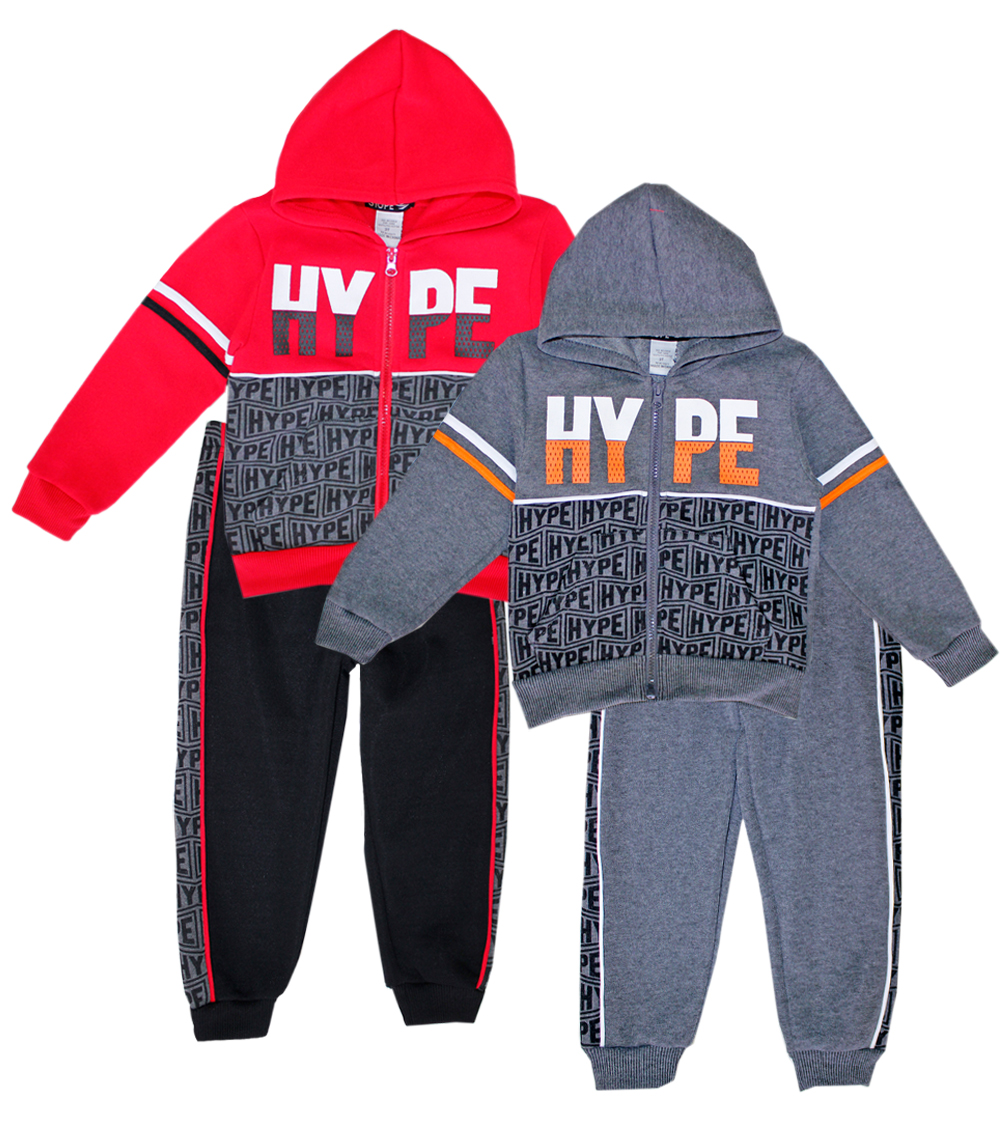 S1OPE Toddler Zip Up Hype Fleece Set w Strapping