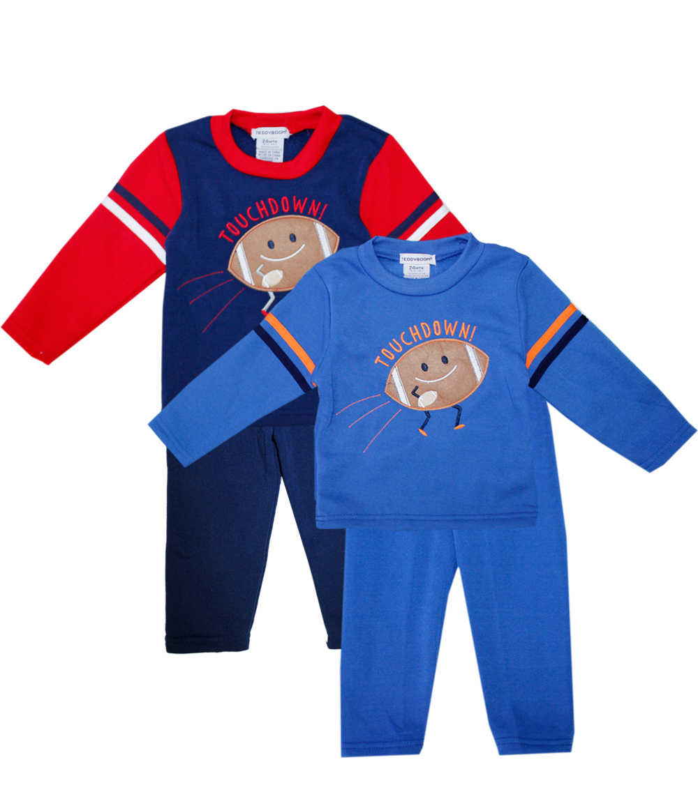 TEDDY BOOM Infant Touchdown! 2 pc Crew Neck Fleece