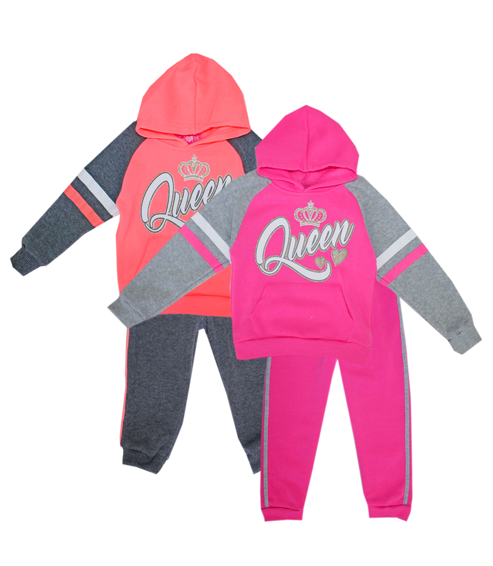 GIRLS PINK Infant Queen Fleece Hoodie Set