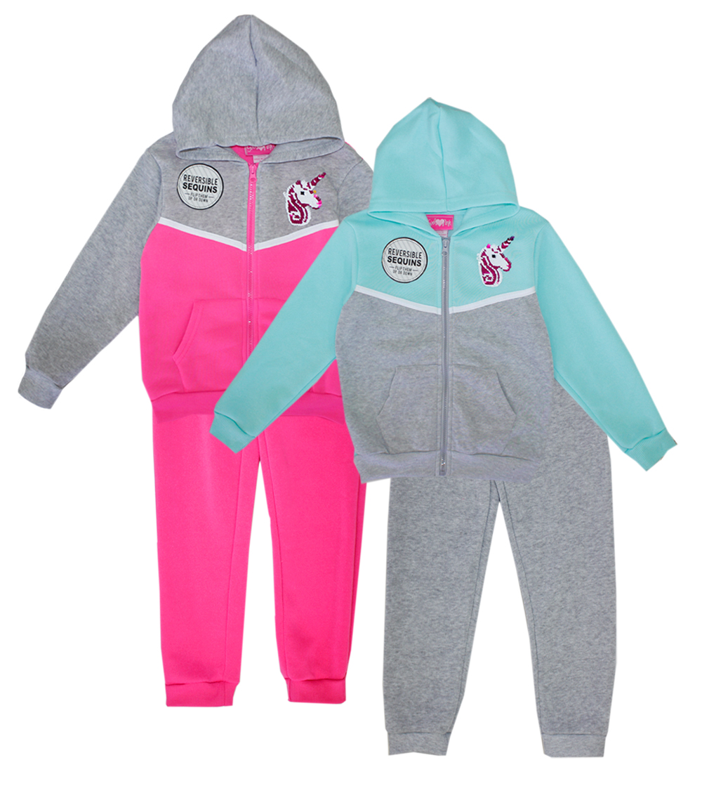 GIRLS PINK Toddler Zip Front Hoodie Set