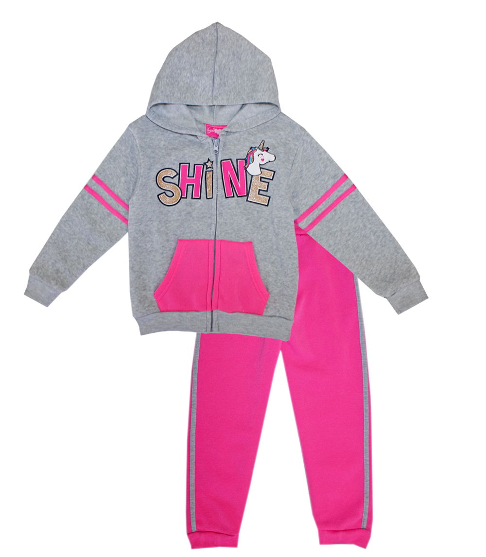 GIRLS LUV PINK Toddler Girls Shine Hoodie Set