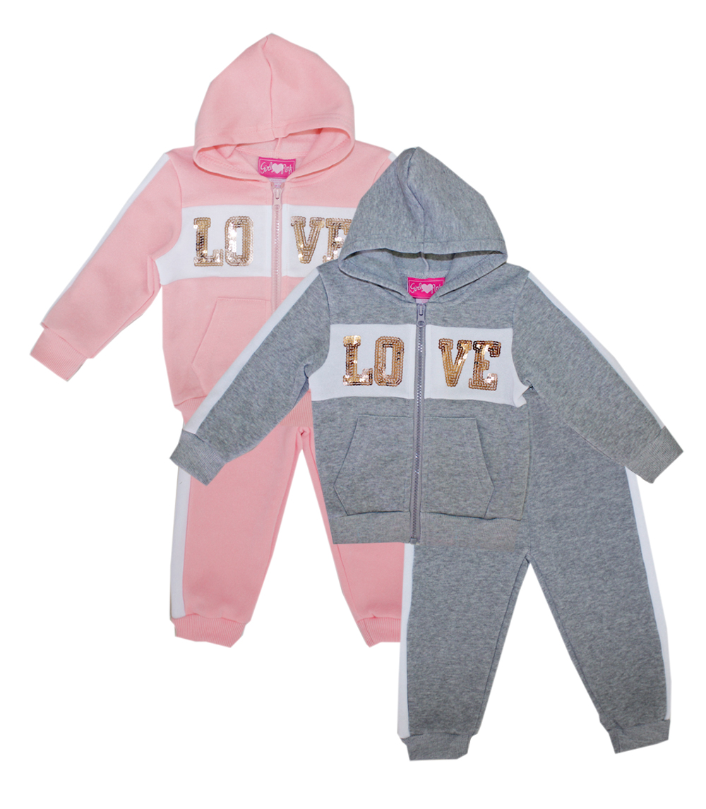 GIRLS PINK Toddler Love Fleece Hoodie Set