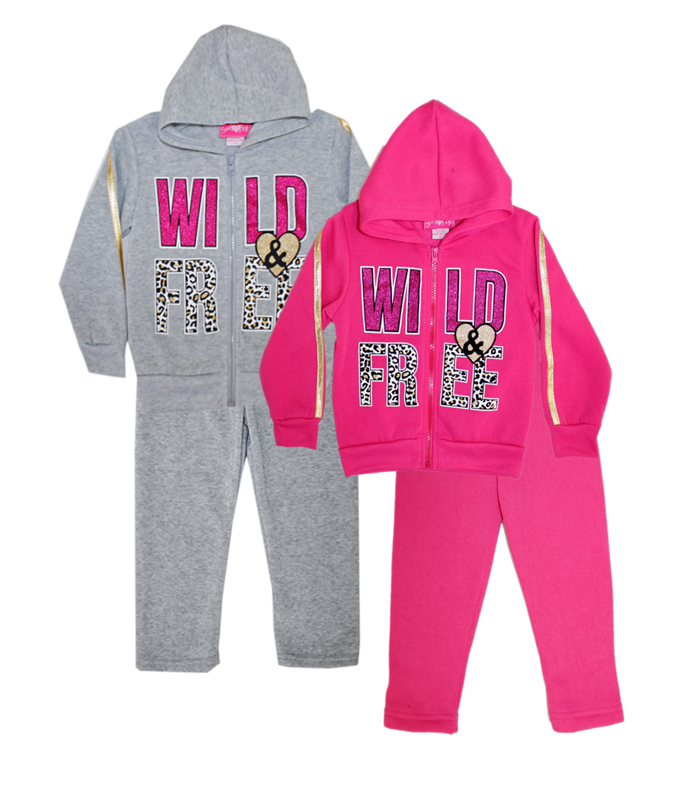 Zip Front Jogset Wild and Free