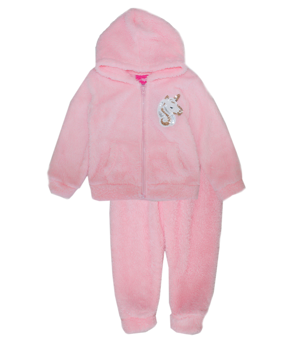 GIRLS PINK Toddler Woobie Zip Front w Jogger