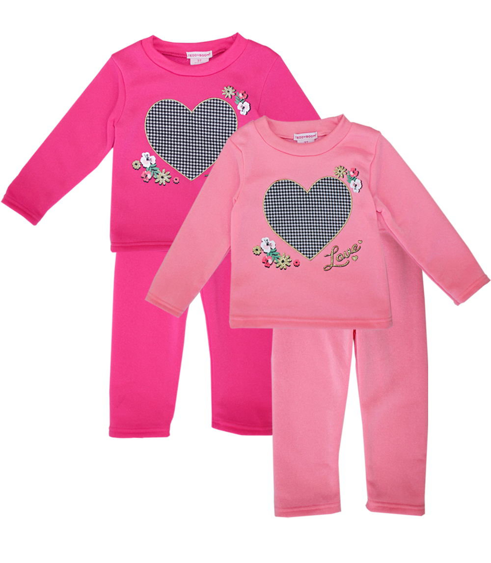 GIRLS PINK Toddler Heart Screen Crew Neck Fleece