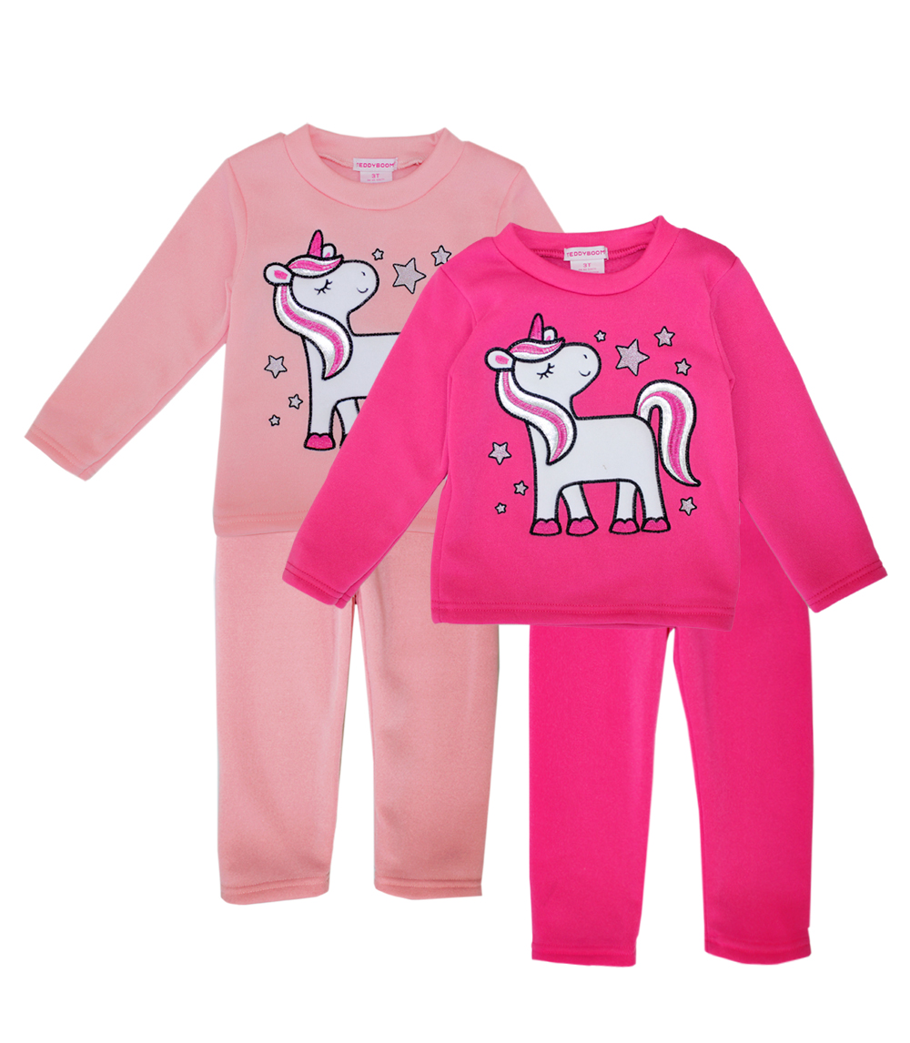 GIRLS PINK Toddler Unicorn Screen Crew Neck Fleece