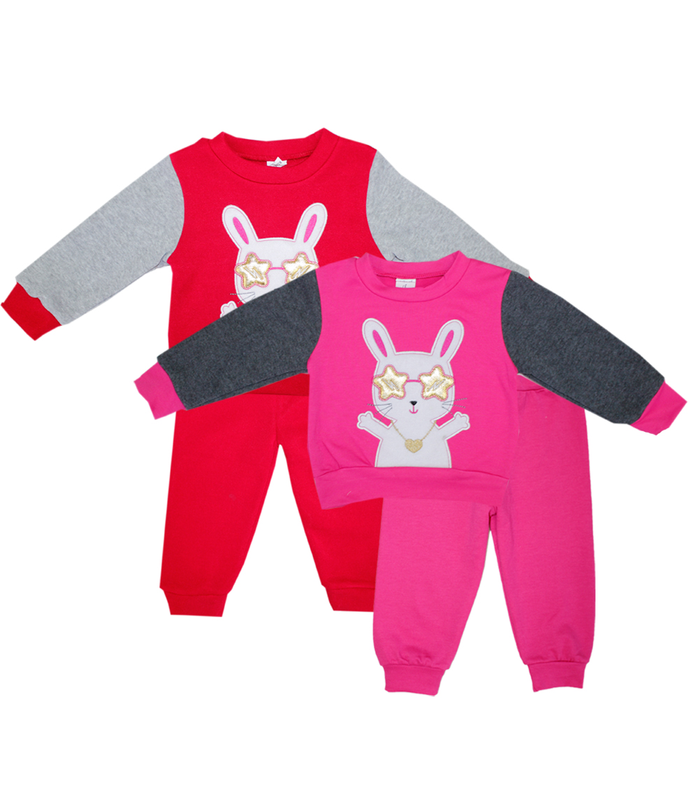 TEDDY BOOM Newborn Cool Bunny Crew Neck Fleece