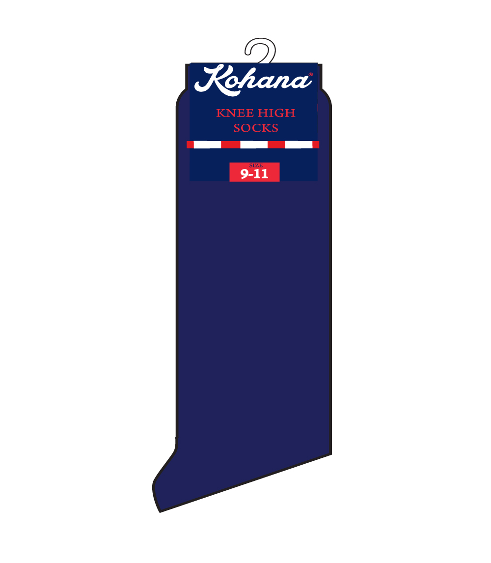 Knee High Socks Navy - Size:  6-8 1/2