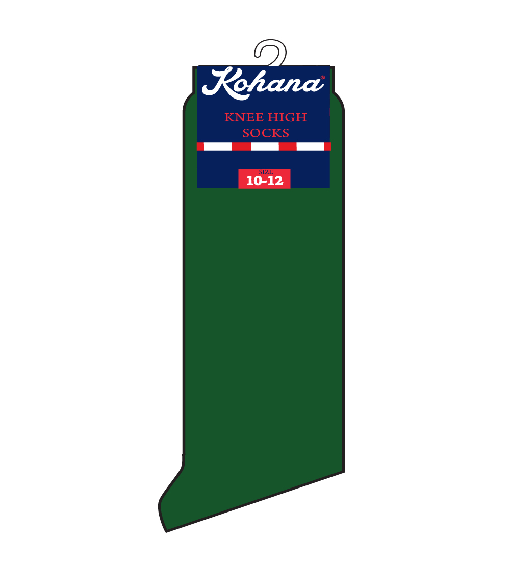 Knee High Socks Hunter Green - Size: 4-6 1/2