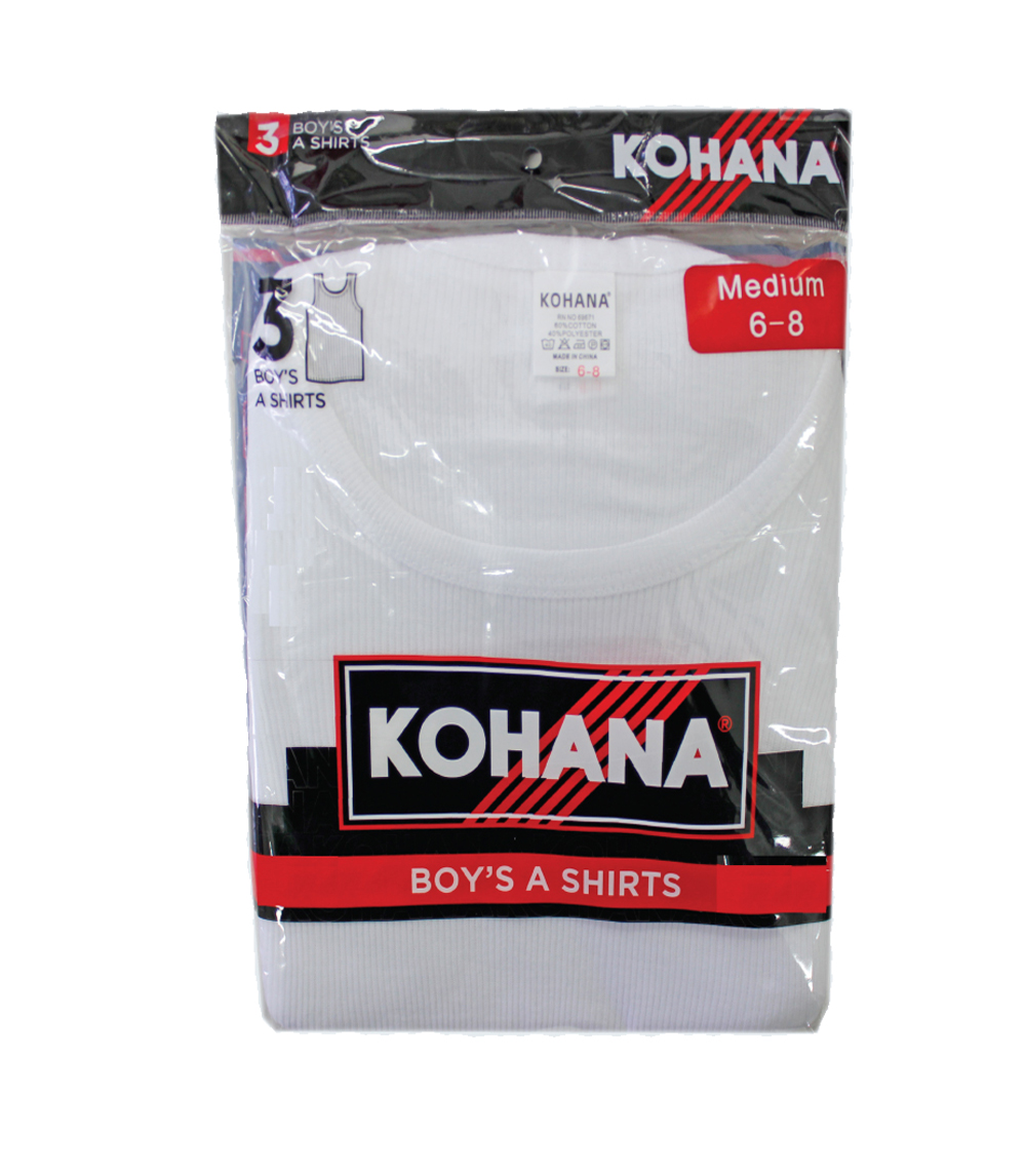 Boy's A-Shirt - 3pk white