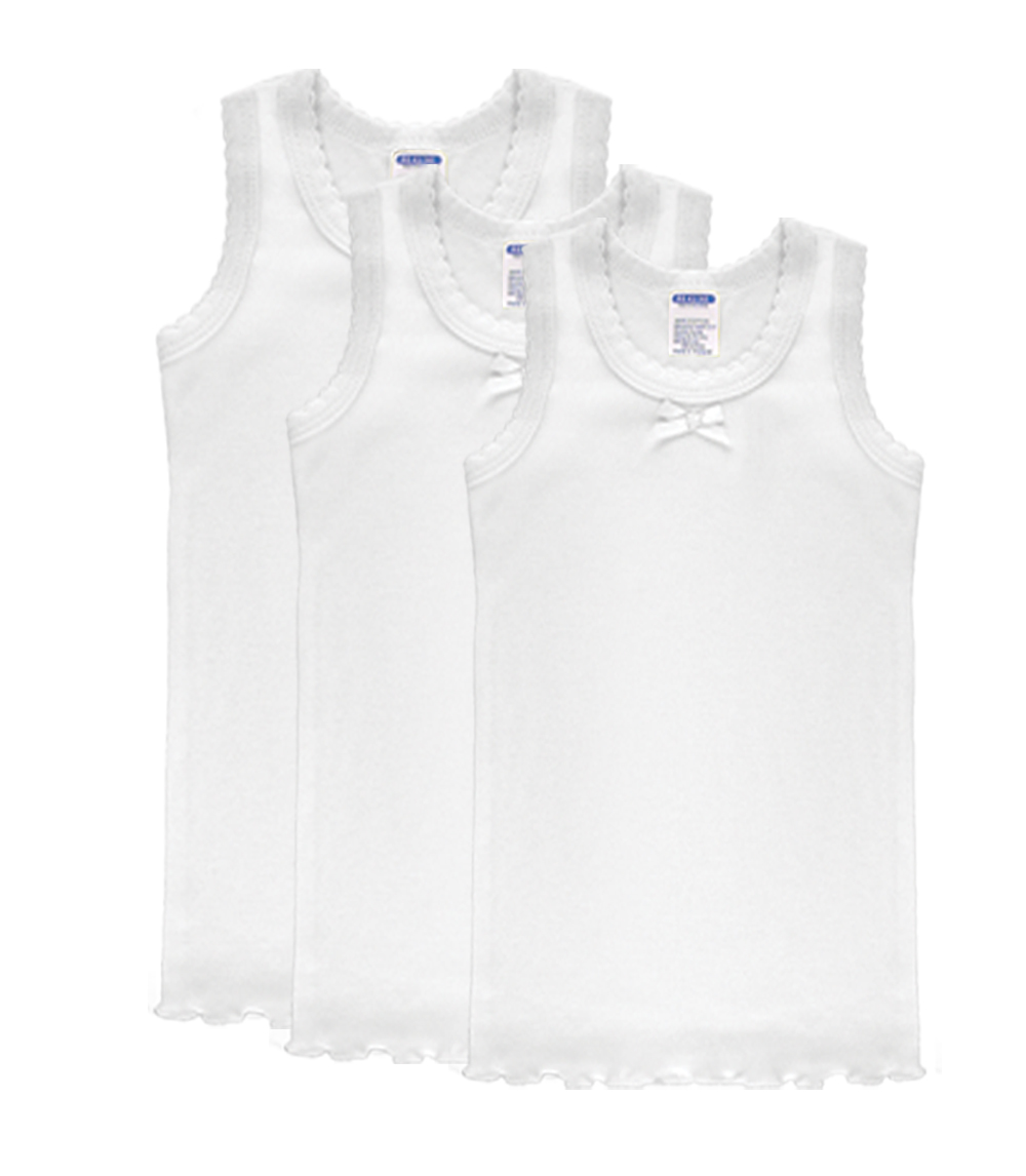 NB Girls Tank Tops White 0/3-3/6-6/9