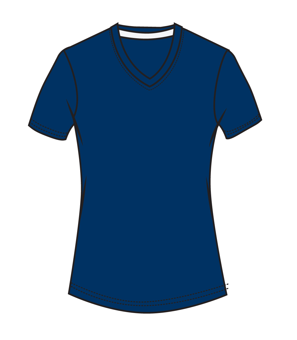 V Neck Performance Navy