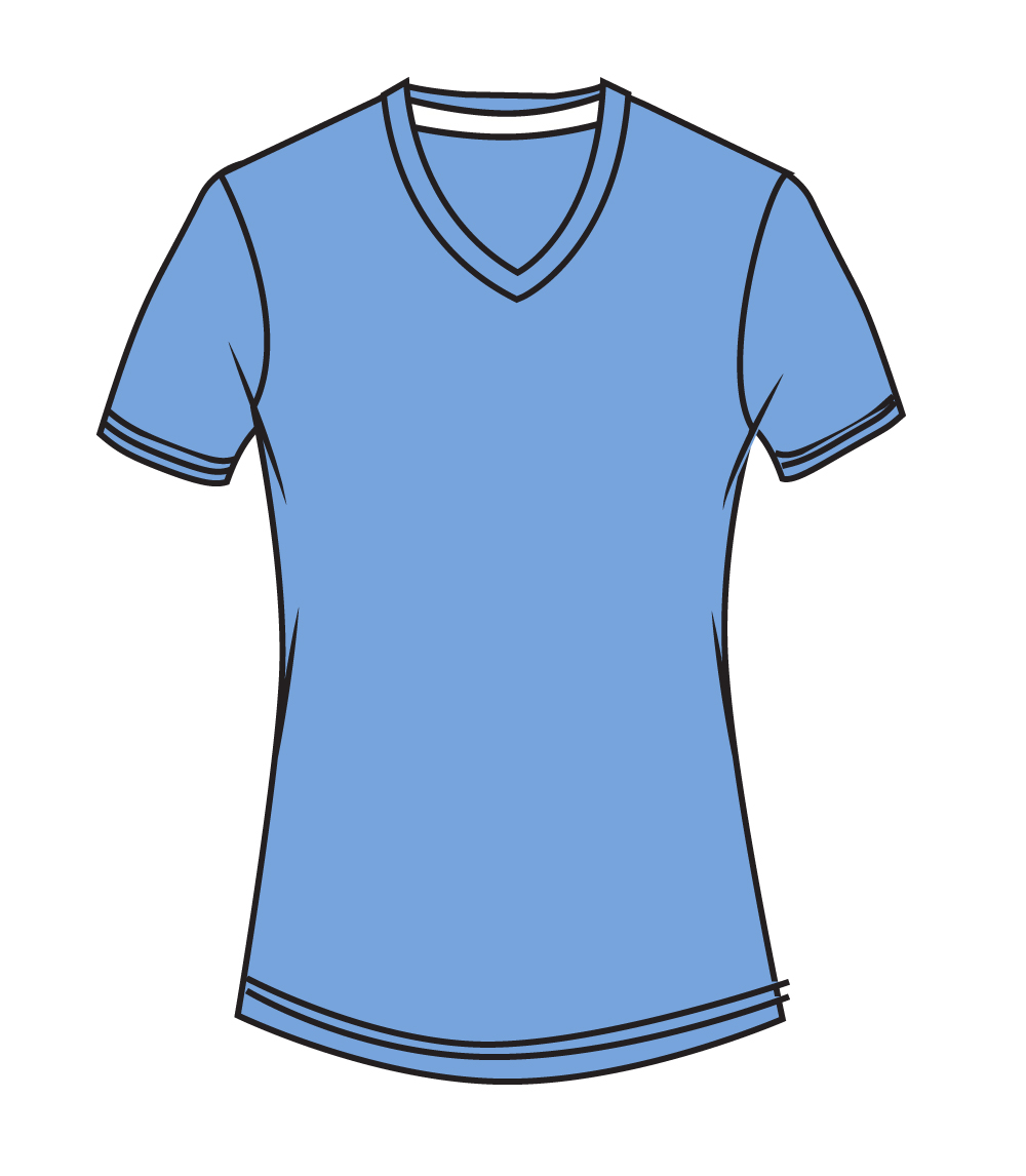 V Neck Performance Caroline Blue