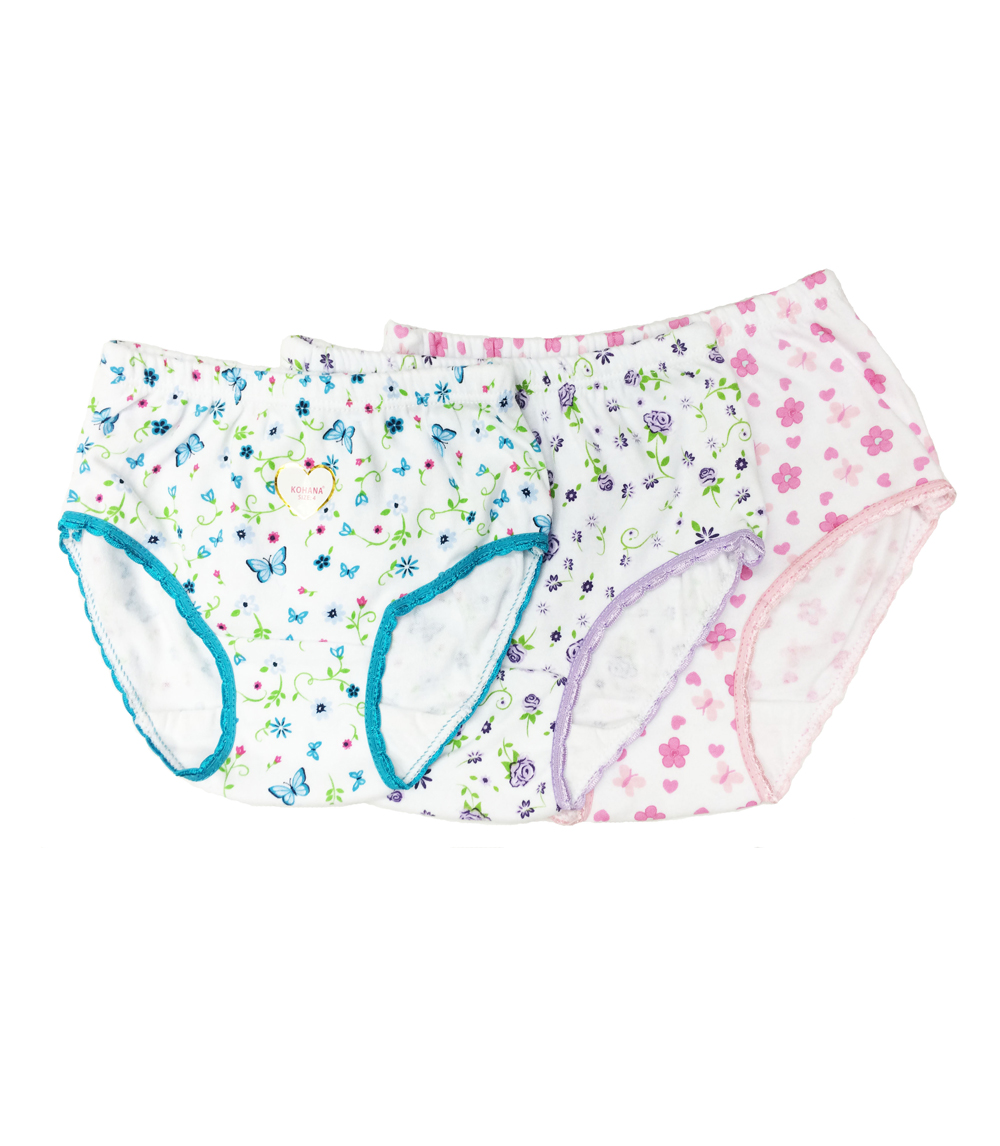 Girls Panties Asst Prints - Size: 8-12