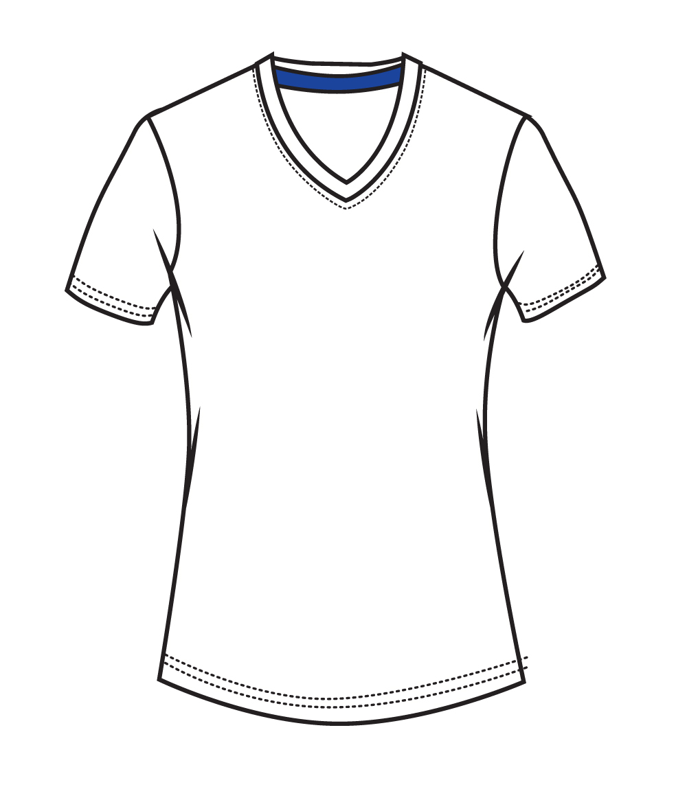 V Neck Performance White